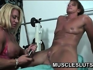 Babes big clit rubbed with a dlido