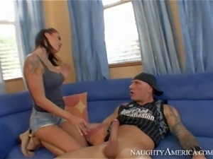 Chayse Evans enjoys in getting her hands on hot and arousing lad Domenic Kane...