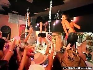 Sexy brunette babes get horny stripping part4