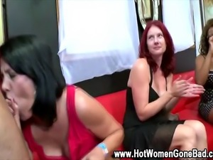 Cock sucking amateur cfnm party sluts gobble stripper cocks