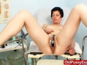 This cuddly Milf got perfect huge natural tits, big erected nipples and...