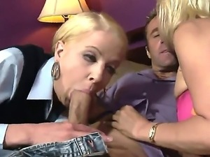 Hardcore family fantasy as this Mother teaches her daughter how to suck cock....