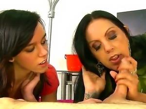 Watch the nice-looking porn scene with Angela DAngelo and Binky Bangs sharing...