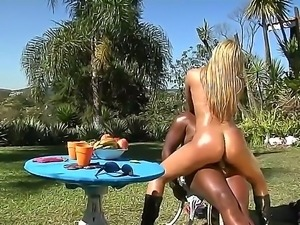 Ebony fellow Jbrown has wild and unforgettable pounding with luxurious Latina...