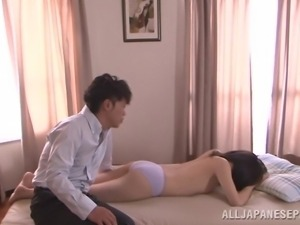 hot ass nippon cutie getting fingered