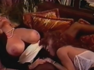 Big boob classic star Candy Samples gets a house call from a nurse, but when...