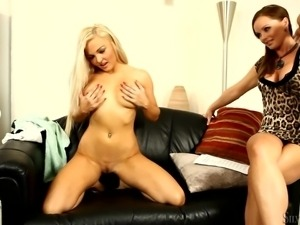 blonde gets naked and naughty