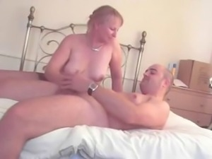 Old wife jerking husbands dick!