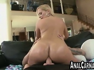 Big tit blonde MILF gets ass fucked
