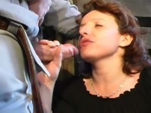 French countryside fucking, lactating milf fucked nasty by older dude.