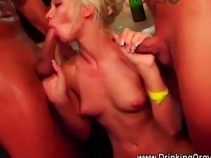 A group of European pornstars are having fun at an orgy