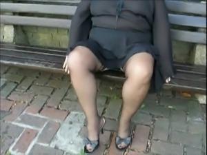 Voyeur stockings,high heels,up skirt