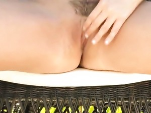 Taylor Vixen with gigantic breasts and trimmed twat enjoys great masturbation...