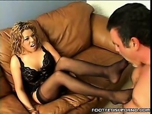 Blonde Foot Job