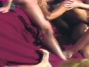 Lusty Jill Kelly with awesome body and Kim Kataine get on knees and suck huge...