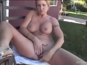 Mature Honey Jizzed On Huge Fake Tits