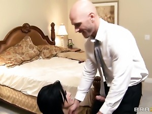 Johnny Sins uses his hard dick to bring Lustful breathtaker Eva Angelina to...