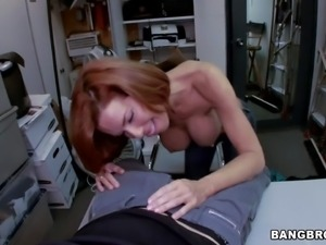 Adorable redhead milf Veronica Avluv with big tits and tight ass gets naked...