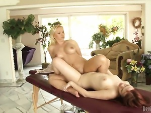 Andrea Sky just loves pussy munching and cant say No to lesbian Katja Kassin