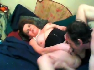 BBW takes a hard cock in her ass and pussy while suing a vibrating toy on her...