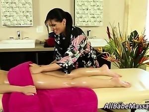 Sensual lesbian massage babes