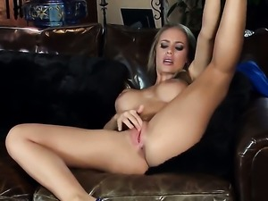 Nicole Aniston with giant jugs and bald snatch is ready to pose naked and...