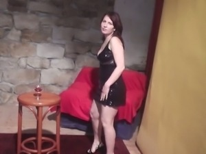 Drunk czech chick lapdance
