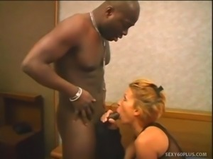 Blond Yells During Black Cock Hammering