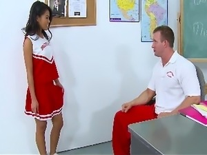 InnocentHigh Petite Asian cheerleader teen Cindy Starfall fucking