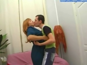 Amateur blonde mature mother fucked swallow free