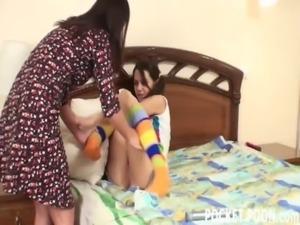 Mature roommate teaches horny lesbian teen free