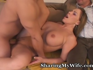 Hot wife and hubby were looking on the internet for an opportunity for her to...