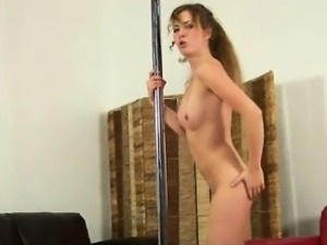 Sexy babe dances naked