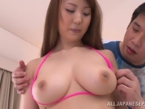 big breasted slut enjoys some fingering