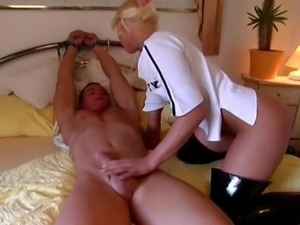 These German Euro-Dominatrix sluts torture and punish their slaves for fun....