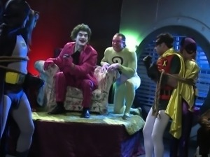 Tori Black banged in threesome by Batman and Robin