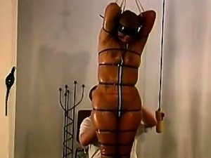 Perv disciplines a busty hottie in this cruel BDSM scene