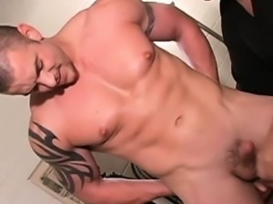 Muscled straight butt fingered
