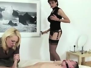 Lady Sonia is a femdom in threesome