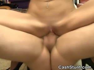 Blonde Dirtbag Fucked And Facial In Money Talks Stunt