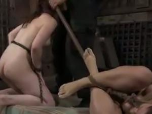 Hard tied bdsm: sasha meets hazel hypnotic