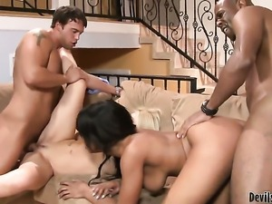 Ashley Winters lets Rocco Reed put his love torpedo in her back yard before...