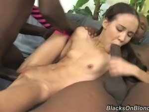 Amai liu enjoys two big rods of black meat
