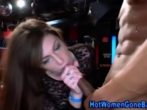 Clothed amateur cock sucking cfnm bitches at real interracial party