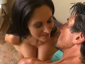 Sexy Ava Addams was invited by Tommy Gunn to tan at his beautiful swimming pool