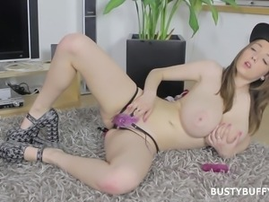 busty buffy is so horny that she needs to masturbate