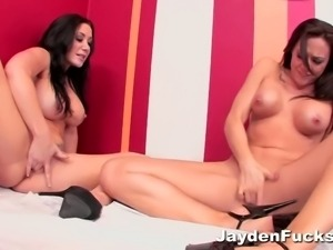 Jayden James and her girlfriend are hot lesbians