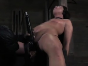 Restrained sub brought to climax