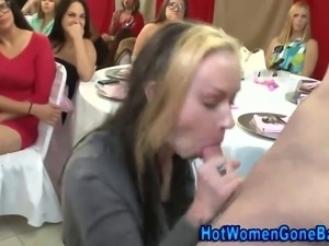 Clothed nasty sluts facialized at real amateur party blowing dicks