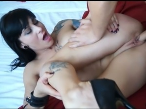 Arousing brunette mom barbara fucked hard
